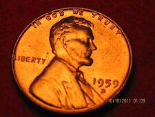 1959 D - Lincoln  Memorial Cent from -BU- Roll-Tempting
