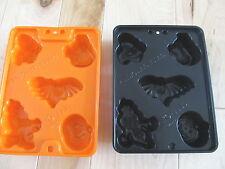 FINGER JELLO JIGGLERS HALLOWEEN MOLDS TWO WITCH GHOST PUMPKIN BAT BLACK CAT