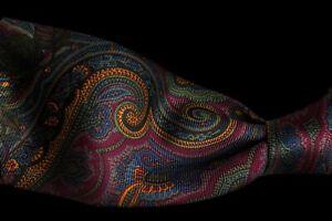 """Polo Ralph Lauren Vintage Mens Thanksgiving Novelty Silk Necktie Tie 58""""L 3.8""""W"""