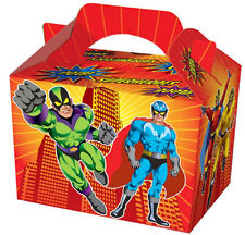 20 Super Hero Party Boxes - Food Loot Lunch Cardboard Gift Kids