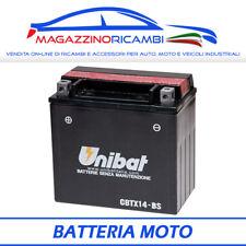 BATTERIA MOTO UNIBAT 12V 12AH CBTX14BS = CBTX14-BS PER MOTO E SCOOTER