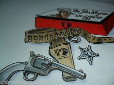 "11x8.5"" ORIGINAL ART FOR STARZ ENCORE JOHN WAYNE WESTERNS SIX SHOOTER TOY SET"