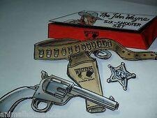 "11x8.5"" ORIGINAL ART FOR STARZ ENCORE JOHN WAYNE WESTERNS SIX SHOOTER TOY SET"