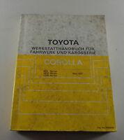 Workshop Manual Toyota Corolla Body / Brake / a/C / Steering, 05/1987