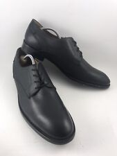 J.D. Fisk Mens Size 10.5 Black Leather Oxfords Derby Lace Up Dress Shoes-527