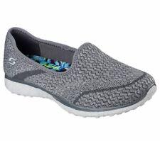 Skechers Microburst All Mine Womens Slip On Sneakers Gray Size 10 Memory Foam