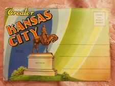 Greater Kansas City - Vintage Accordion-Style Picture Postcard