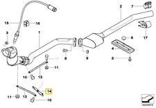 BMW 3 SERIES E46 HOLDER CATALYTIC CONVERTER NEAR ENGINE 18207787600