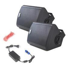 Pair of Pyle PDWR62BTBK Wall Mount Waterproof/Bluetooth 6.5 In/Outdoor Speakers