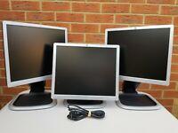 "HP 19"" inch Monitor, HP Compaq LA1951g DVI, VGA DSUB, USB x2, HDCP monitor"