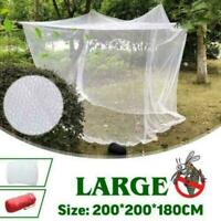 Large Camping Mosquito Net Indoor Outdoor Insect Netting Tent White C4D9 Q8B2