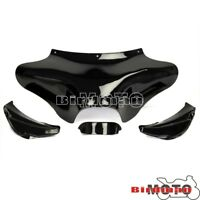 Motorcycle Front Batwing Fairing Black For Harley Softail FLSTF Deluxe FLSTN New