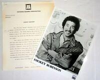 SMOKEY ROBINSON 2pc Original Photo Press Kit Lot Tamla Motown Records