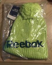 Reebok Beanie Knit Shell Fleece Lined Color Fluorescent Green