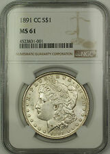 1891-CC Carson City Morgan Silver Dollar $1 Coin NGC MS-61 (15)