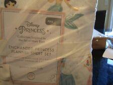 Pottery Barn Kids organic enchanted Disney Princess full sheet set flannel issue