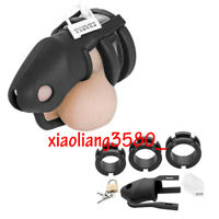Nature Silicone Male Chastity Cage Device Chastity belt lock with Balls Separate