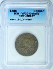 1786 New Jersey Copper Colonial ICG VF-20
