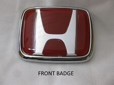 New OEM JDM Honda S2000 Red H emblem set (front and rear) fits all 1999 - 2009