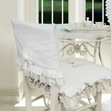 Coprischienale Coprisedia Shabby Chic Pizzo Swami Collection Colore Bianco