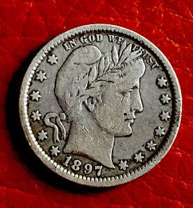 Us Barber 1/4 Dollar 1897