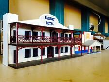 RAILWAY HOTEL w-Verandahs Backdrop Building HO 1/87 scale Laser cut Wood kit