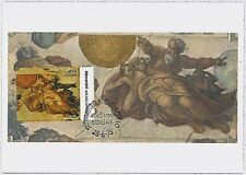 MAXIMUM CARD : Art - Paintings: INDIA 1975  MICHELANGELO #4