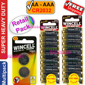 WINCELL AA or AAA or CR2032 Batteries Super Heavy Duty Battery Ultra Long Life