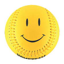 Yellow Smiley Face Baseball