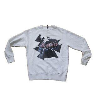 VERSUS VERSACE - Men's Sweatshirt Authentic Medium | M | Spell Out White Jumper