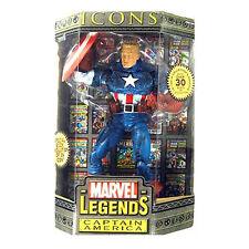 Marvel Legends Icons Captain América Aucune Mask PVC Figurine 30cm Toy Biz