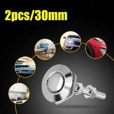 Silver Car Bumper Latch Kit Push Button Quick Release Hood Bonnet Pins Lock Clip