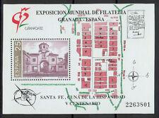 Sellos de España - 1991 hoja estampillada sin montar o nunca montada Granada 92 Sello Exposición
