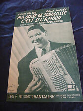 Partition Ma gosse de Saragosse C'est d'l'amour Emile Prud'Homme 1953