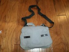 GERMAN MILITARY ARMY GREY SHOULDER BAG WITH STRAP