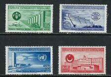TURKEY / 1952 - Buildings (UN, Dam), MNH, Michel #1305/1308, Sc #1051/1054