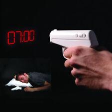 Secret Agent Alarm Clock Gun Projection Project Time Morning Bedroom Gadget Gift