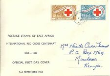 Kenya 1963 First day Cover, 100 years of the red cross
