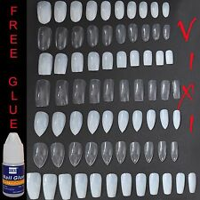 50-600x False Nails - STILETTO ✔ COFFIN ✔ OVAL ✔ SQUARE  Natural & Opaque ✅ Vixi