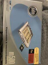 Palm m500 Gray Handheld Pda Pilot Pocket Pc Digital Organizer Bundle W/box