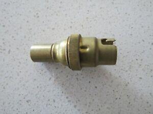 3 x BRASS B15 LAMP HOLDER SOCKET CHANDELIER LAMP PART ATTACHMENT SMALL BAYONET