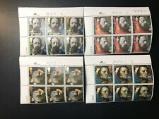 Gb Qeii Sg 1607-1610 The Lord Tennyson Set Cylinder Blocks of 6 1992 Stamps Mnh