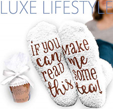 """""""If You Can Read This Bring Me Some Tea! """" - Funny Socks Cupcake Gift Packaging"""