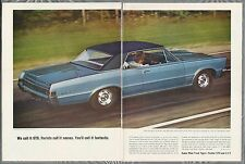 1965 PONTIAC GTO 2-page advertisement, Pontiac ad, Gran Turismo Omologato