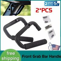 2Pcs Front Bolt-On Grab Handle Bars Steel Side Door For 07-18 Jeep Wrangler JK