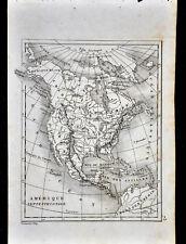 1835 Levasseur Map - North America -United States Canada Mexico California Texas