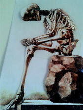 Human Skeleton - Antique Print Them Bones Hurt  in 3-D - Poster size 11x17