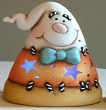 Ceramic Bisque Ready to Paint Small Candy Corn with Face on each side
