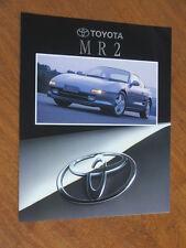 1992 Toyota MR 2 original Australian market 8 page brochure