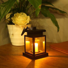 Solar Lantern Light Powered Hanging Outdoor Garden Led Candle Lamp Waterproof
